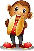 Monkey holding cymbals