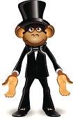 Monkey in a top hat