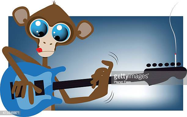 Monkey plays guitar