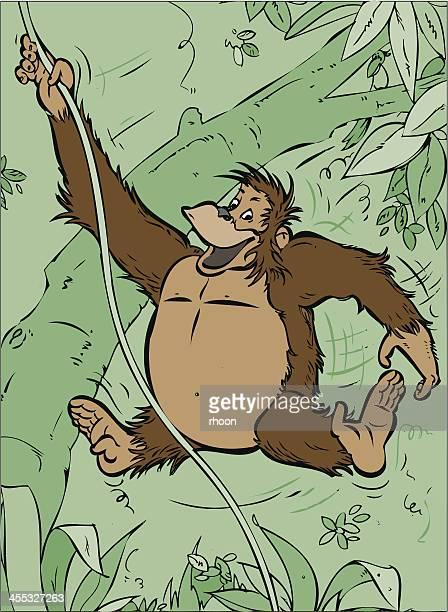 monkey - chimpanzee stock-grafiken, -clipart, -cartoons und -symbole