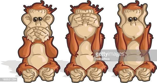 Monkeys See, Hear, Speak No Evil