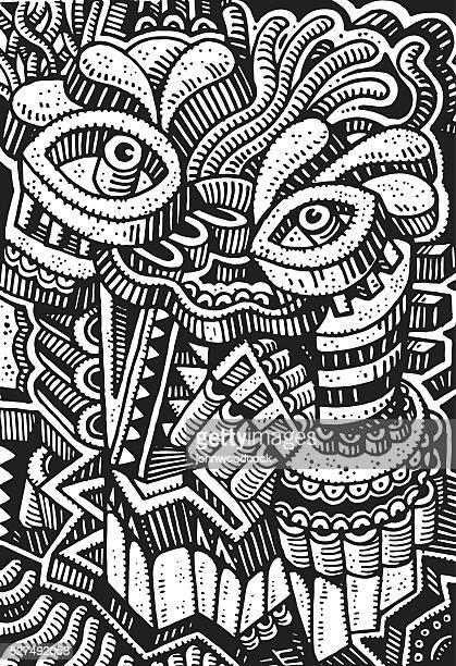 Mono face doodle