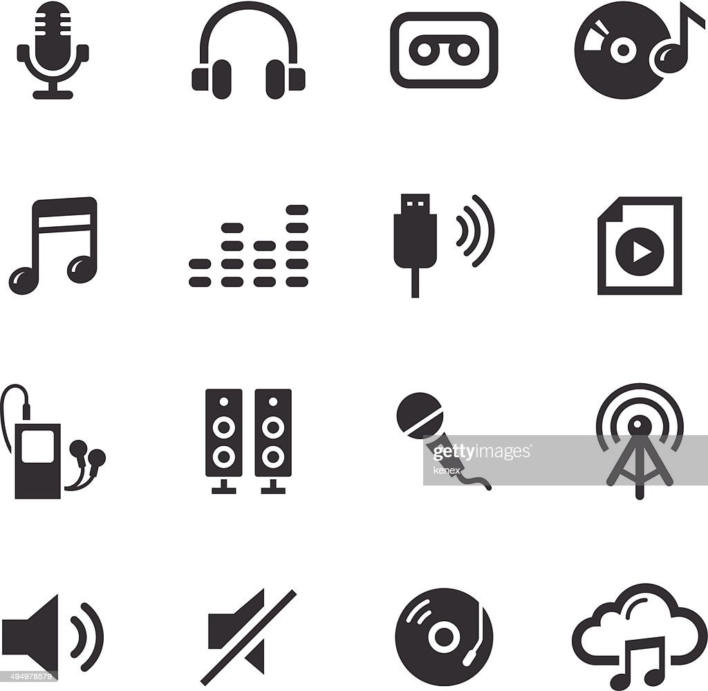 Mono Icons Set | Audio