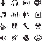 Mono Icons Set | Audio
