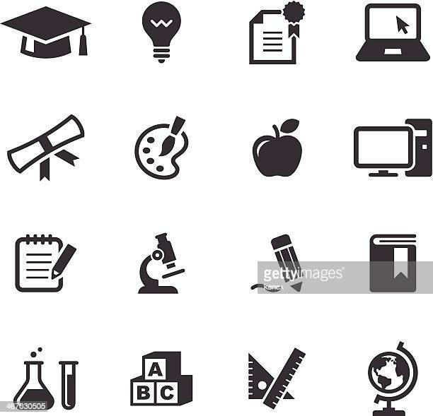 Mono conjunto de iconos de educación /