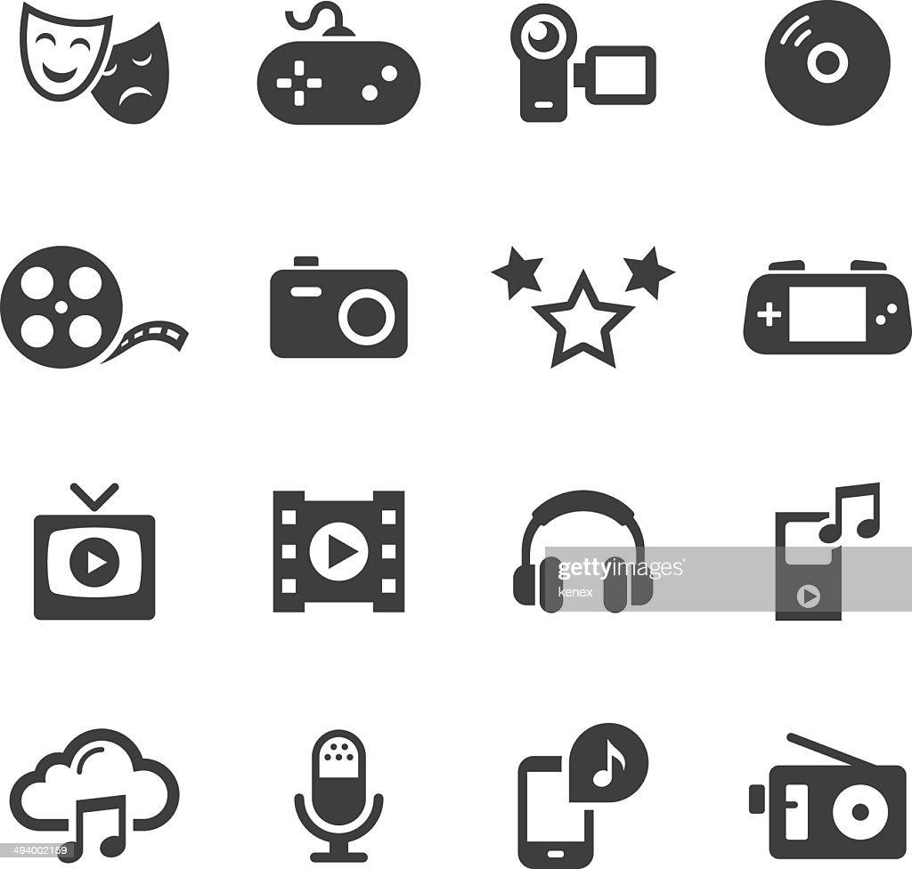 Mono Icons Set | Entertainment