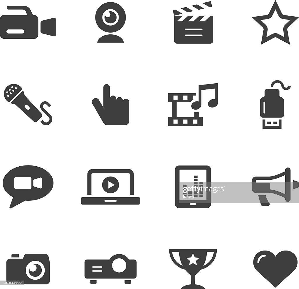 Mono Icons Set | Entertainment