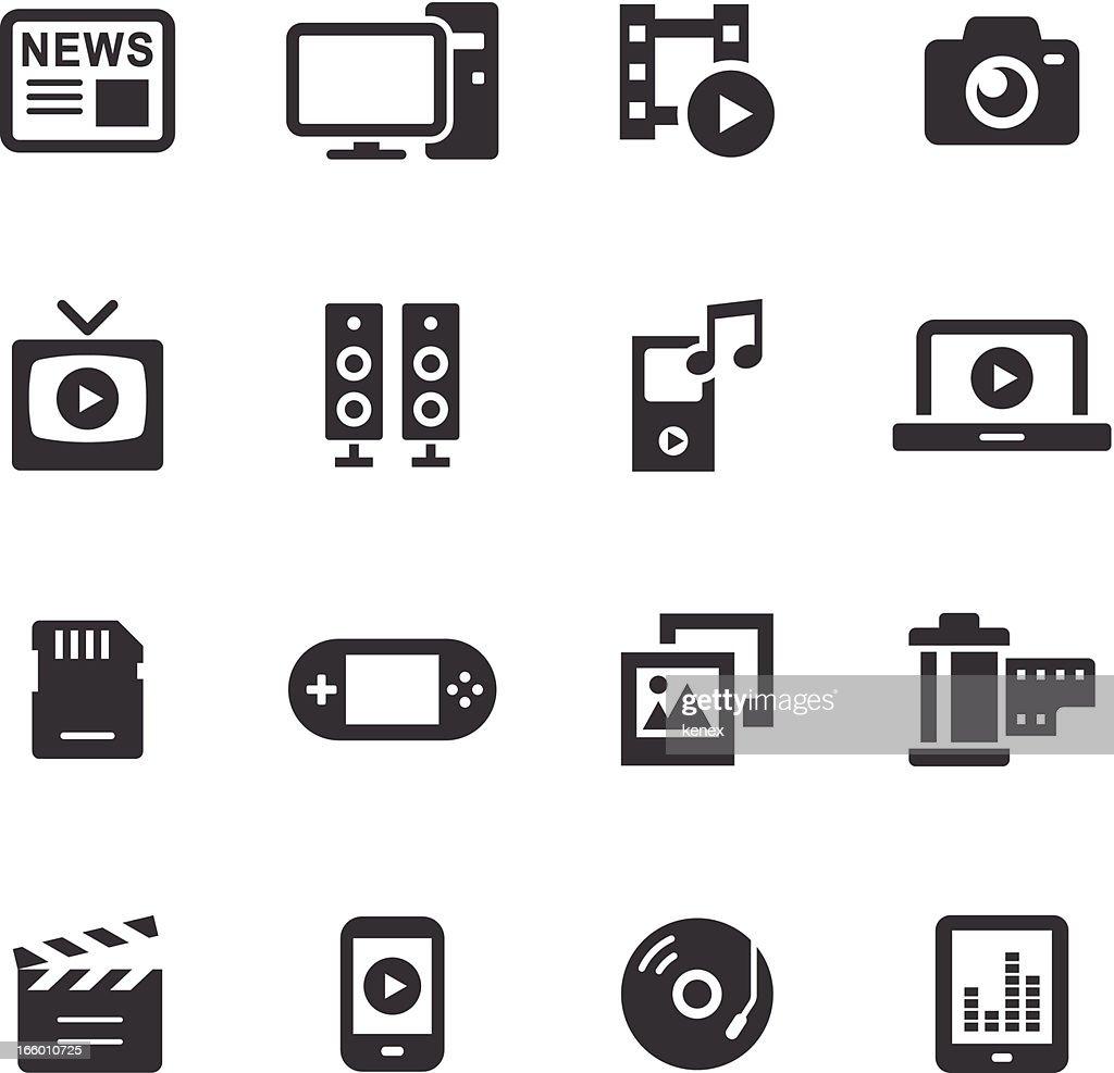 Mono Icons Set | Media