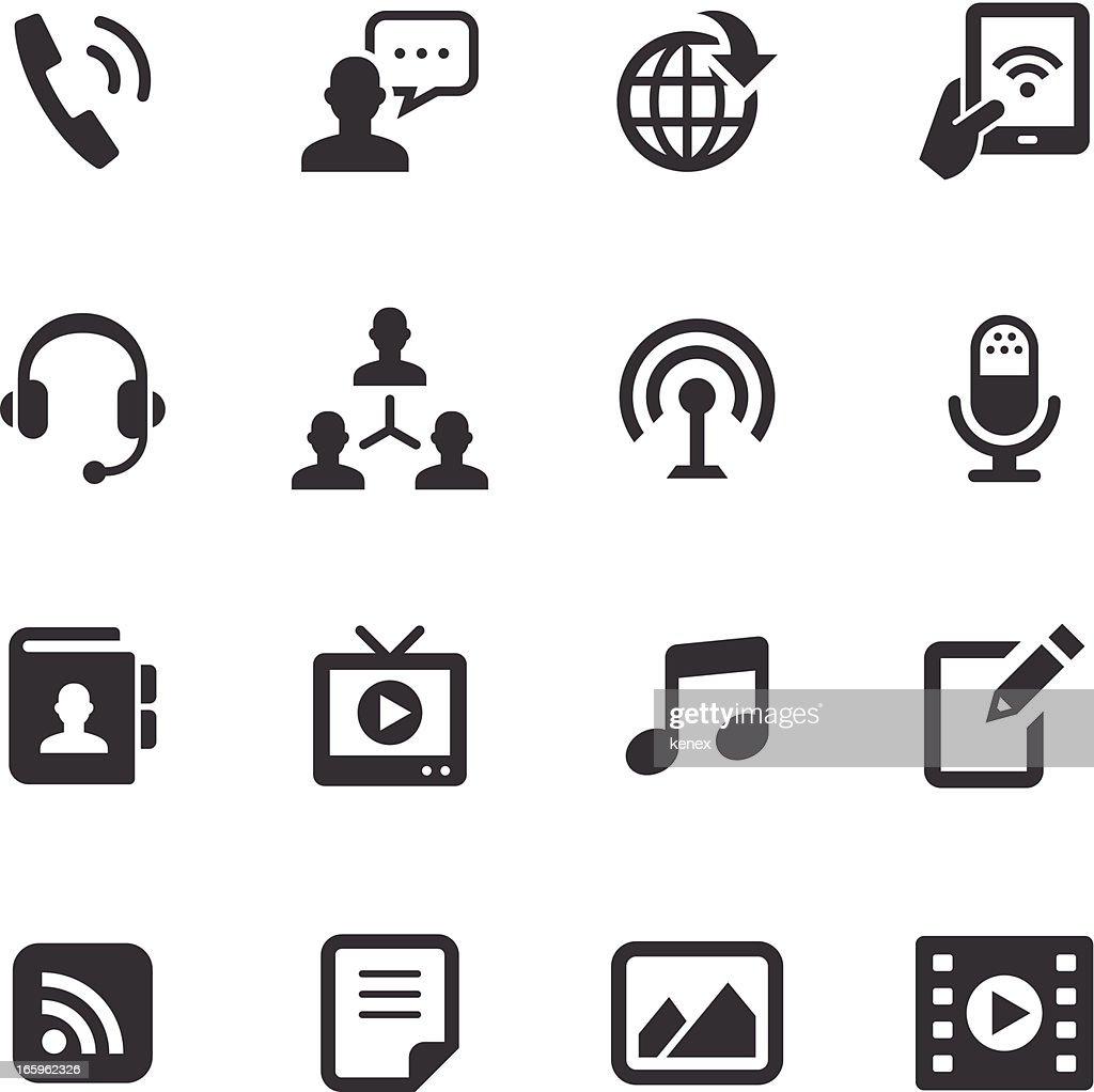 Mono Icons Set | Social Media : stock illustration