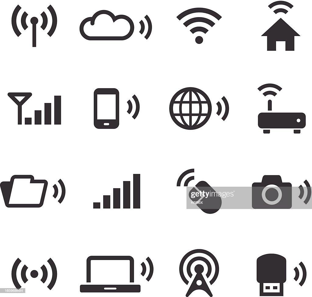 Mono Icons Set | Wireless Technology