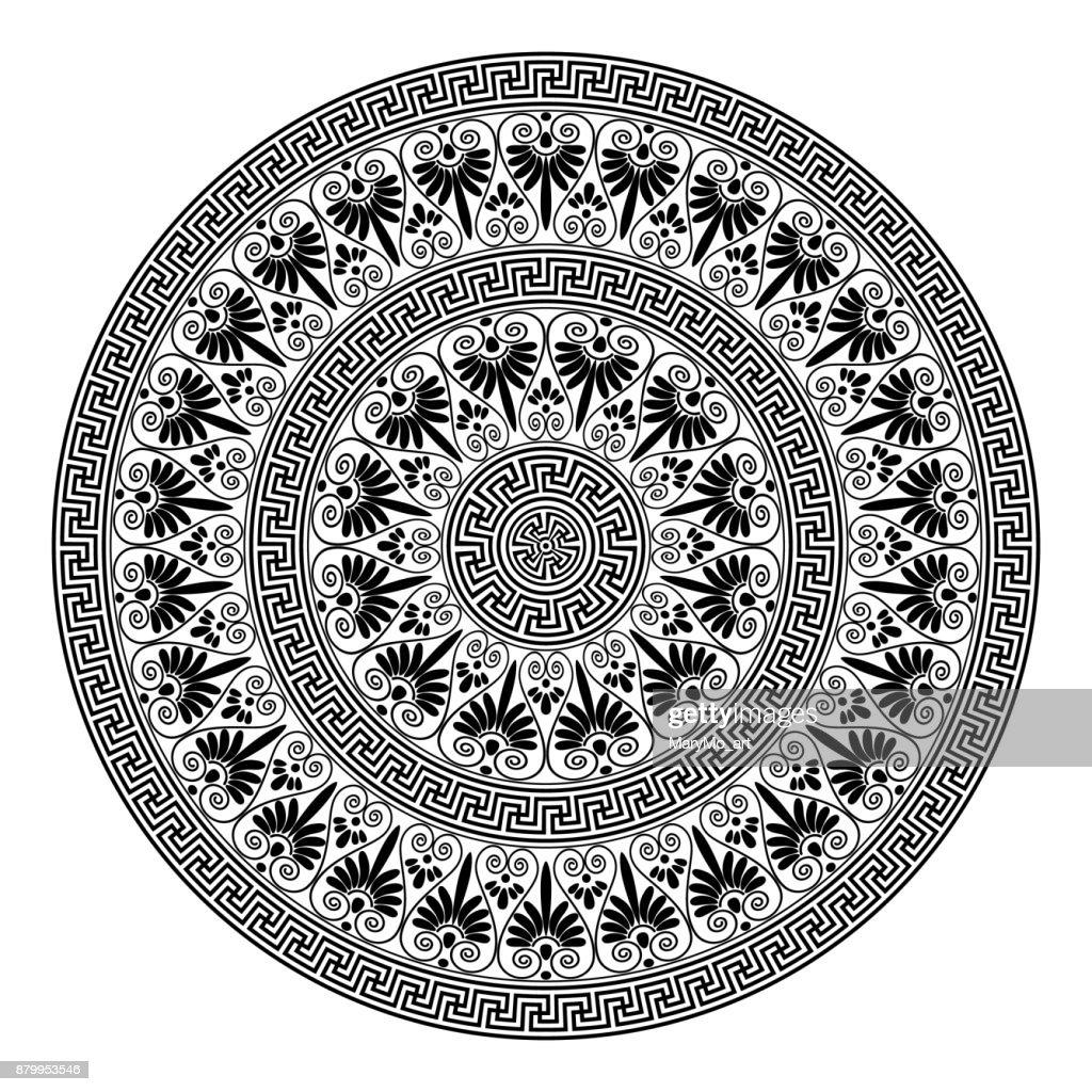 Monochromatic ethnic seamless textures.