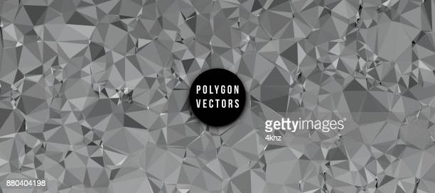 Monochrome Abstract Background Polygon Vectors