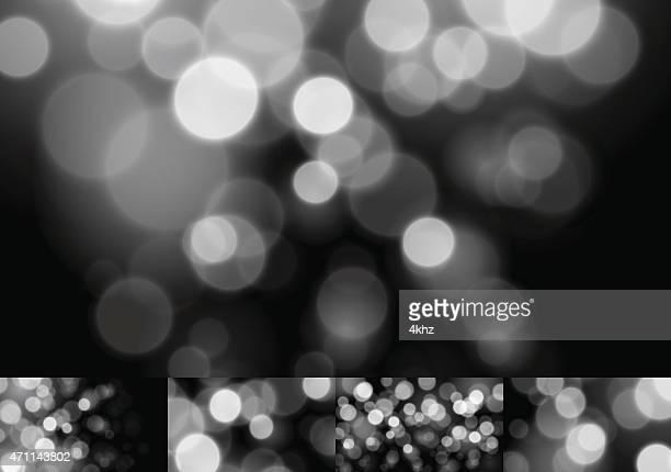 Monochrome Bokeh Stock Vector Backgrounds Blurry Defocus Lights Collection