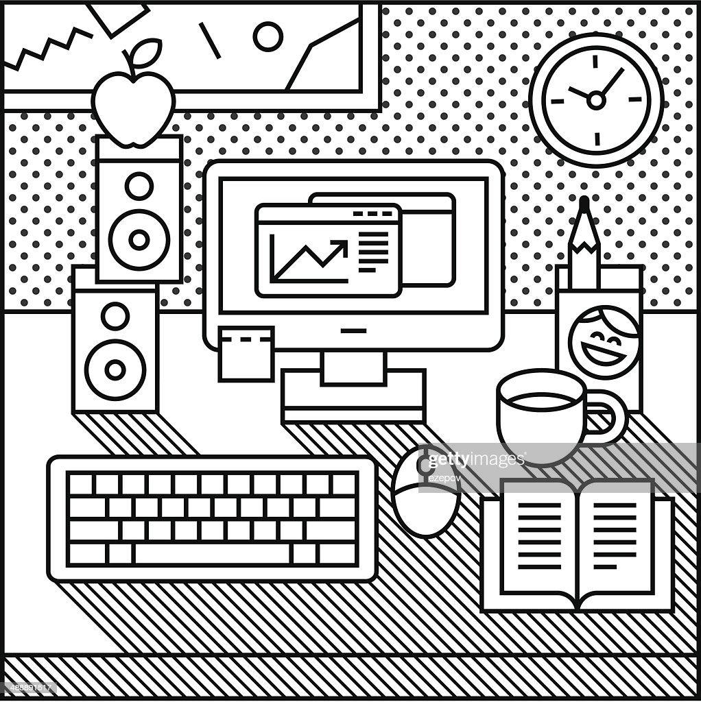 monochrome computer