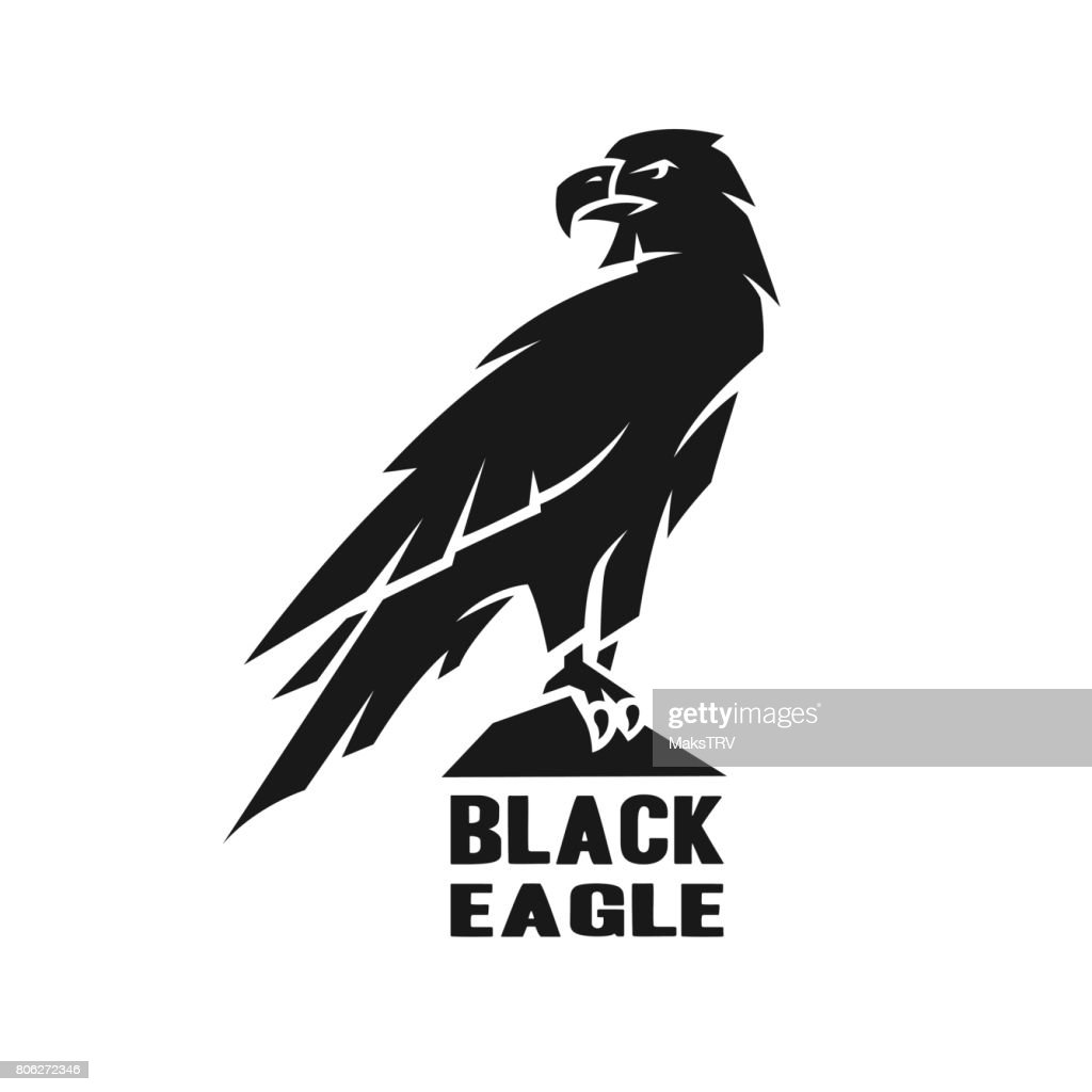 Monochrome eagle symbol.