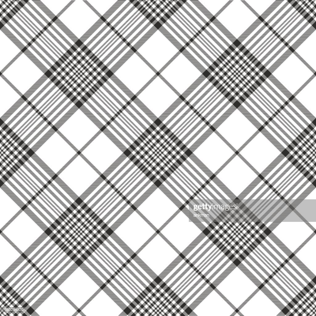 Monochrome fabric diagonal seamless texture