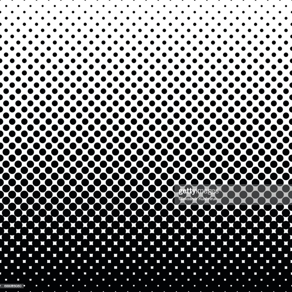 Monochrome halftone abstract background