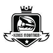 Monochrome icon, mountain bike. Downhill, freeride, extreme sport. Vector illustration.