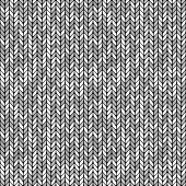 monochrome knitted seamless background pattern