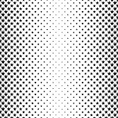 Monochrome pentagram star pattern - abstract vector background