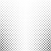 Monochrome pentagram star pattern - vector background illustration from geometric shapes