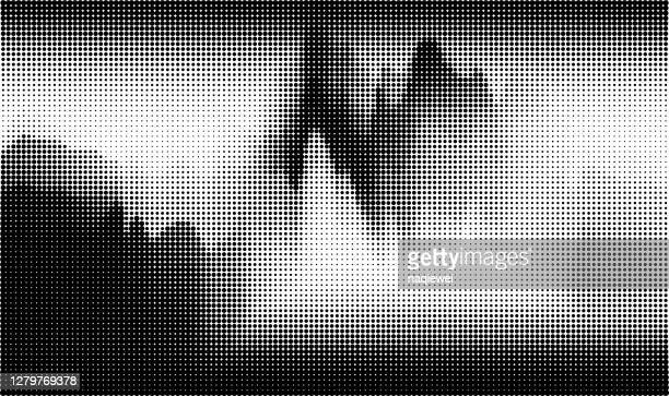 モノクロ水玉模様スタイル風景パターンの背景 - モアレ縞点のイラスト素材/クリップアート素材/マンガ素材/アイコン素材