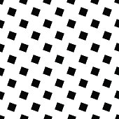 Monochrome seamless geometric square pattern - vector background design from angular squares