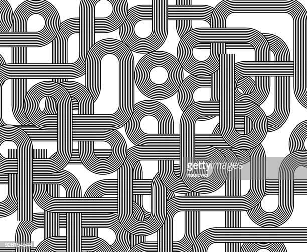 monochrome stripe pattern - concentric stock illustrations