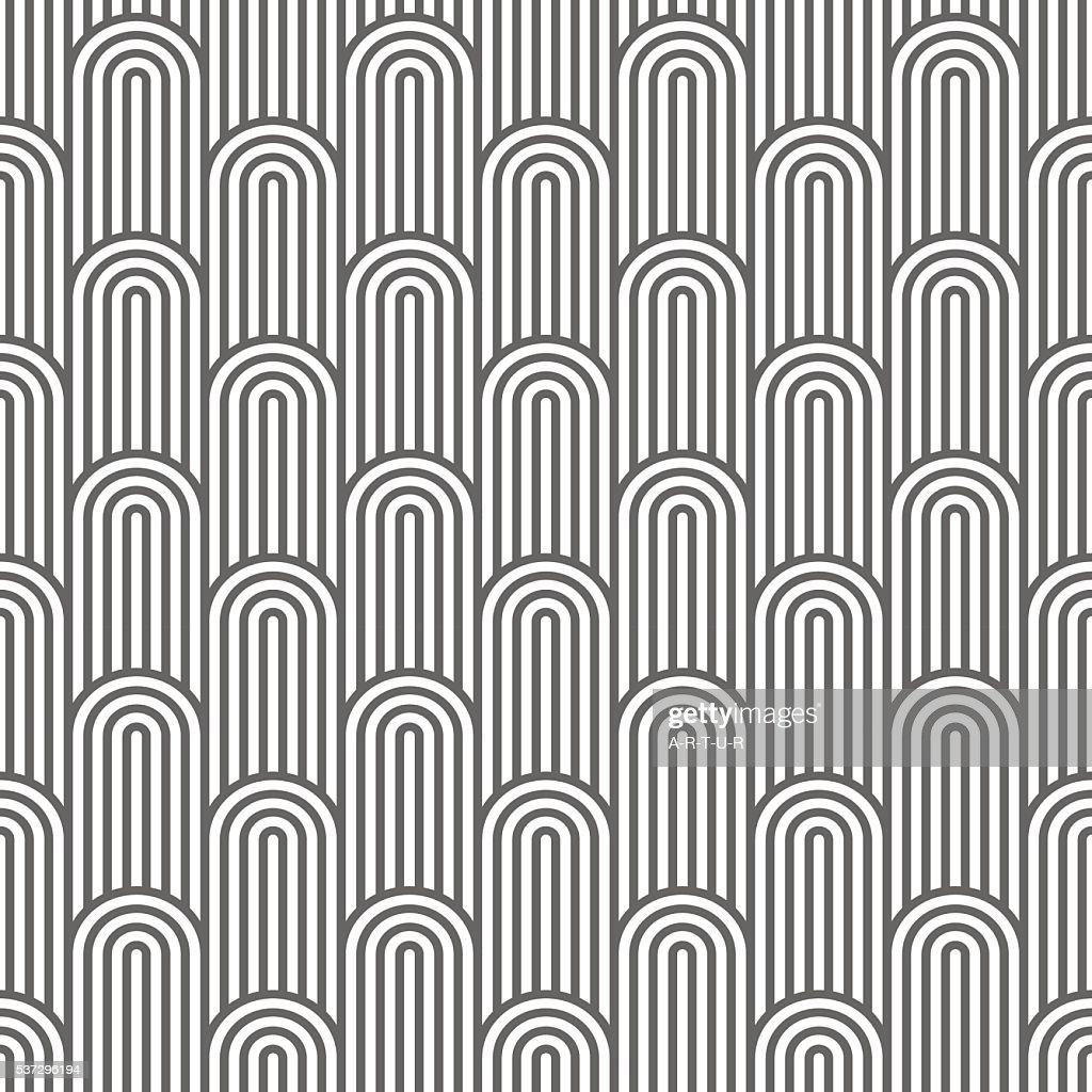 Monochrome striped flaked seamless pattern