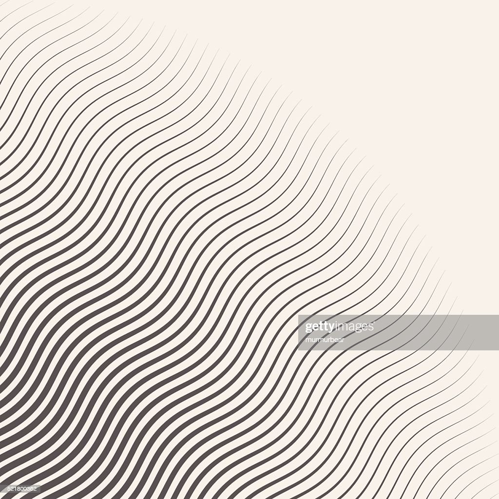 monochrome striped halftone wave vector background.