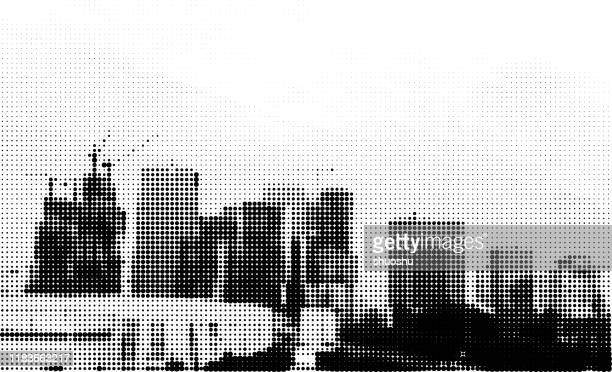 Worlds Best Black And White City Wallpaper Stock Vector Art