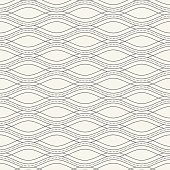 Monochrome wave seamless pattern.