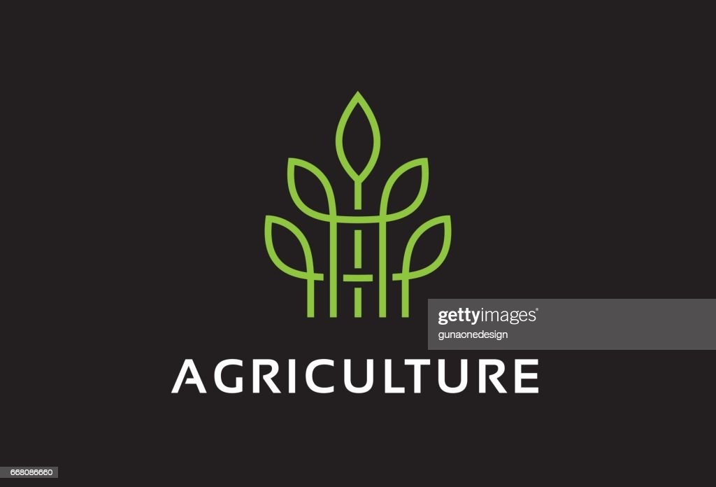 Monogram Agriculture Symbol Template Design Vector, Emblem, Design Concept, Creative Symbol, Icon