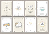Monogram creative cards template