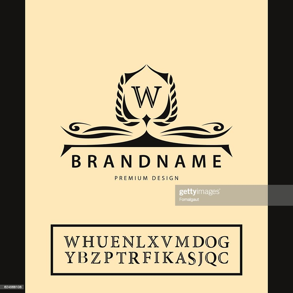 Monogram design elements, graceful template. English letters. Business emblem. Vector