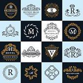 Monogram design elements, graceful template. English letters. Business emblem. Vector