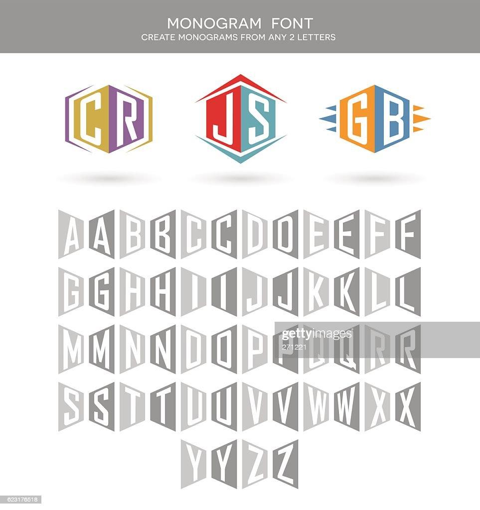 Monogram font for building 2 letter monograms.
