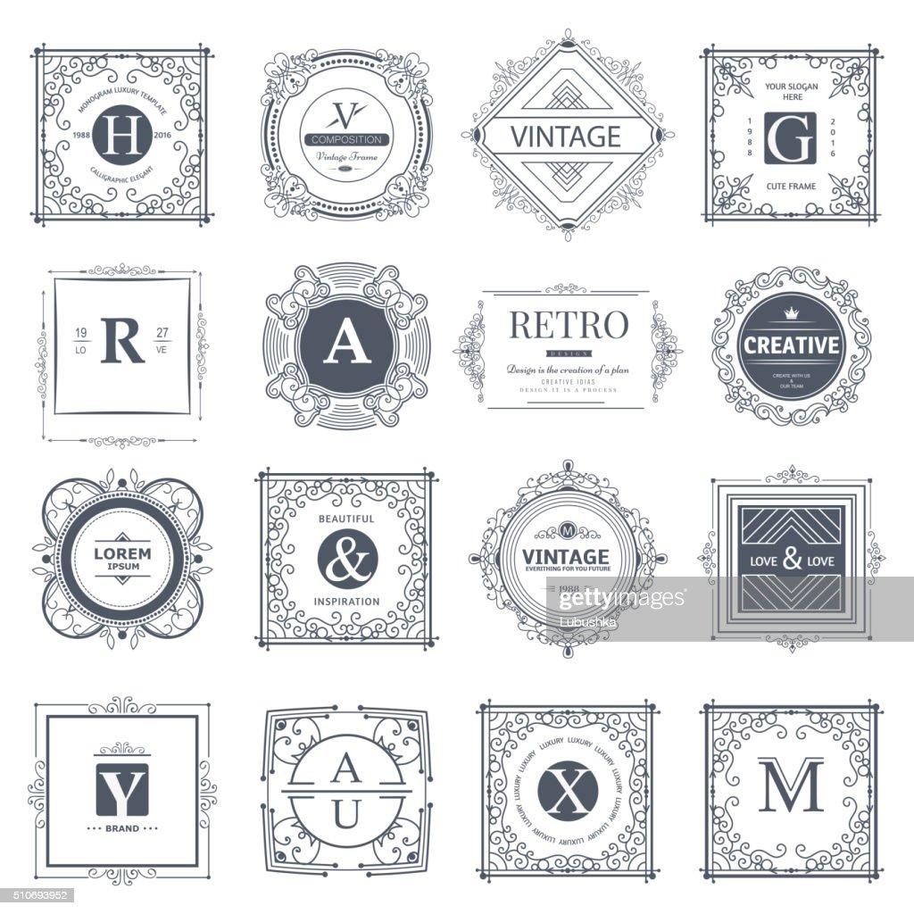Monogram luxury elements
