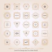 Monogram luxury ornament
