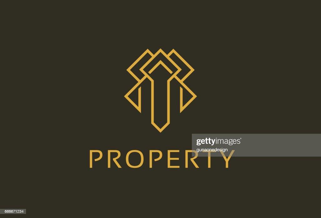 Monogram Property Symbol Template Design Vector, Emblem, Design Concept, Creative Symbol, Icon