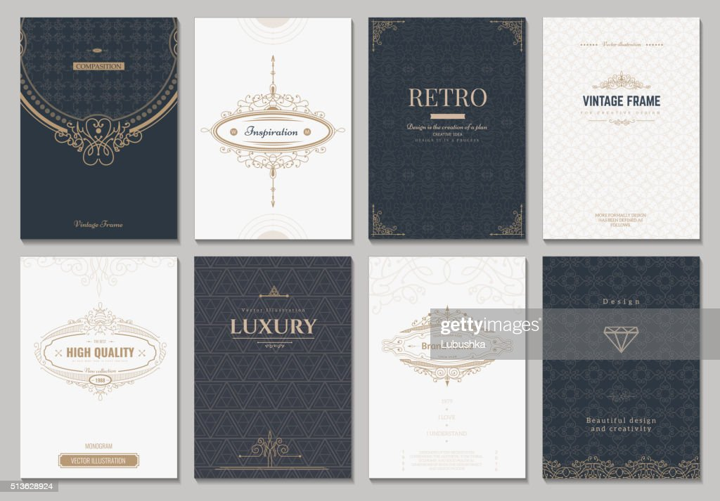 Monogram vector creative cards