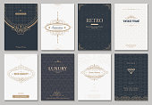 Monogram vector creative cards