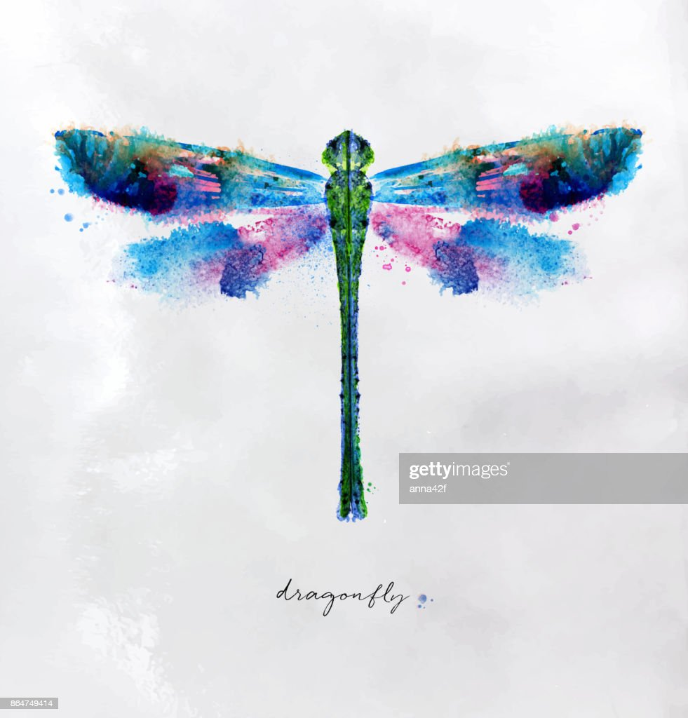 Monotype vivid dragonfly