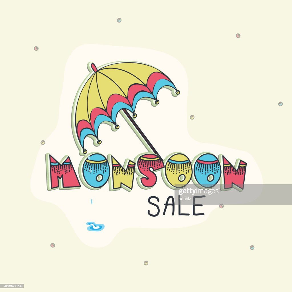 Monsoon Sale poster, banner or flyer.