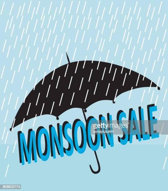 monsoon sale, - monsoon stock illustrations, clip art, cartoons, & icons