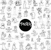 monster characters big set