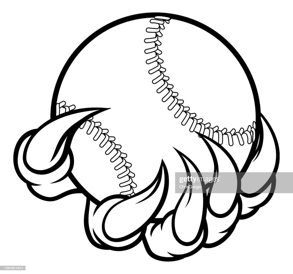 Monster claw holding Baseball Ball