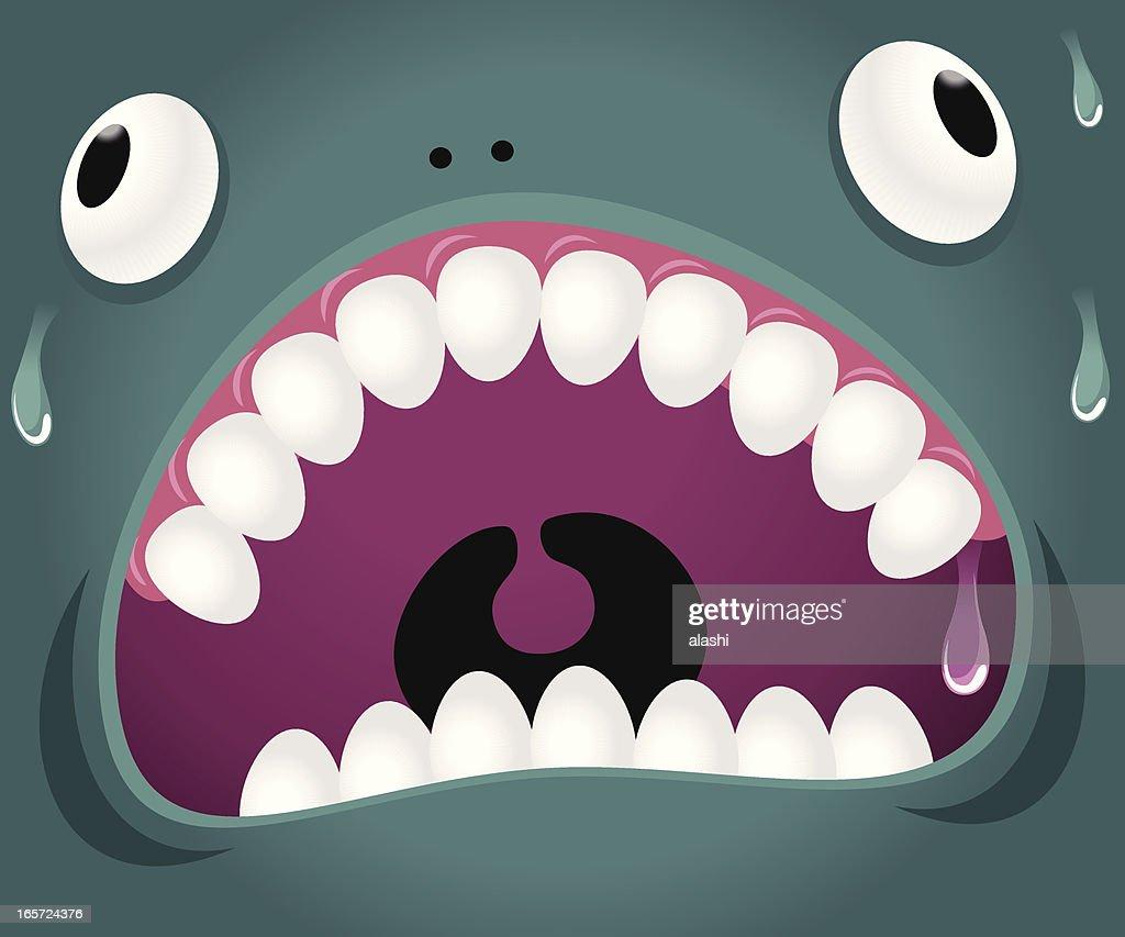 Monster emoción: Loca : Ilustración de stock