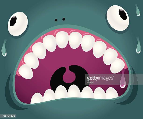 monster emotion: crazy - hysteria stock illustrations
