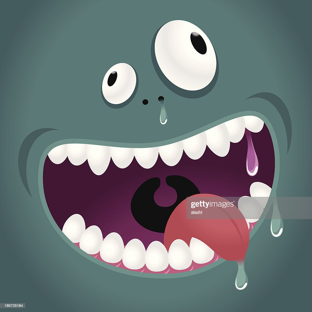 Monster Emotion: Hungry, Laughing : stock illustration